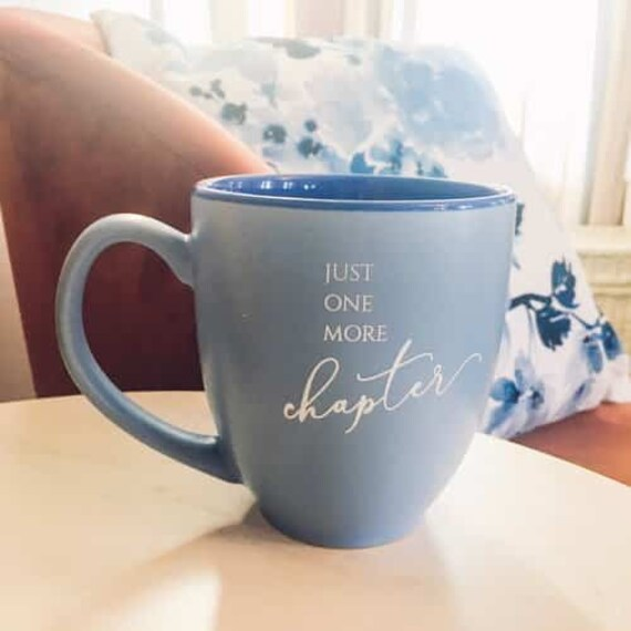 Just One More Chapter Bistro Mug