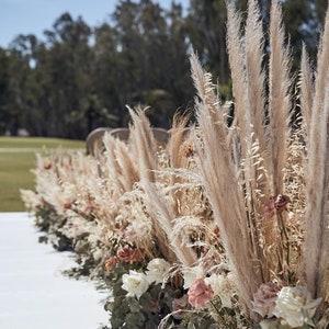 3ft Tall 3pc White Pampas Grassfluffy Natural Pampas Grass DIY decorHome accessoriesRoom decor Pampas grassCeremony DecorDried Floral