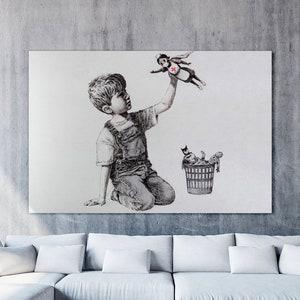 Banksy Game Changer Framed Canvas NHS Nurse Super Hero Wall Art Picture Print ✔✔