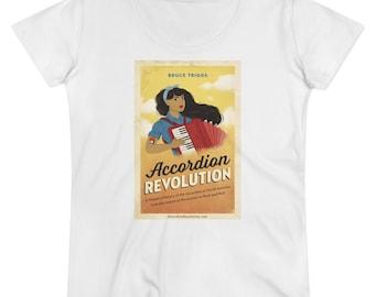 Accordion Revolution, Women's T-shirt, Organic Cotton