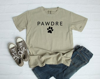 Dog Dad PAWDRE Shirt, Comfort Colors Garment Dyed Shirt, Gift For Dog Dad, Dog Dad, Dog Lover Sweatshirt, Gift For Him
