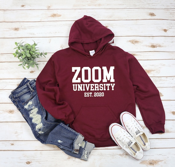 Zoom University Established 2020 Heavy Blend Hooded Sweatshirt, Social Distancing, Introvert Shirt, Social Distance, Virtual Student