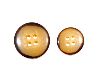 BEIGE BROWN TORTOISE SHELL EFFECT  4 HOLE  BUTTONS x 9 FREE P/&P