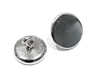 10 mm Smoked Chrome Finish Button