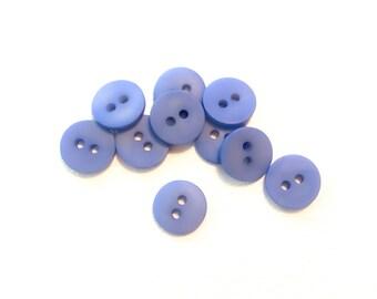 Light Blue 18 m, Lined Pattern Opalescent Baby Blue Glass Buttons 6 VintageAntique Czech Glass Buttons Round Rare Textured Pattern