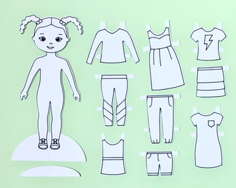 Cut Out pdf Instant Download Printable Paper Doll Digital Paper doll jpg Fairy Doll png Printable doll Cut out doll Craft Doll