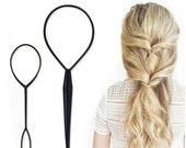 2 Topsy Tail Hair, Braid Ponytail Maker Hair, Styling Tools, Ponytail Creator Plastic Loop, Hair Accessories