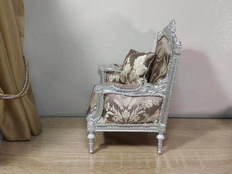 Doll furniture doll chair Armchair for 1:4 dolls classic armchair Louis XVI style