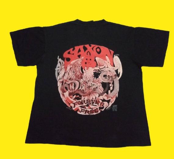 Vintage 90's Saxon Band tshirt