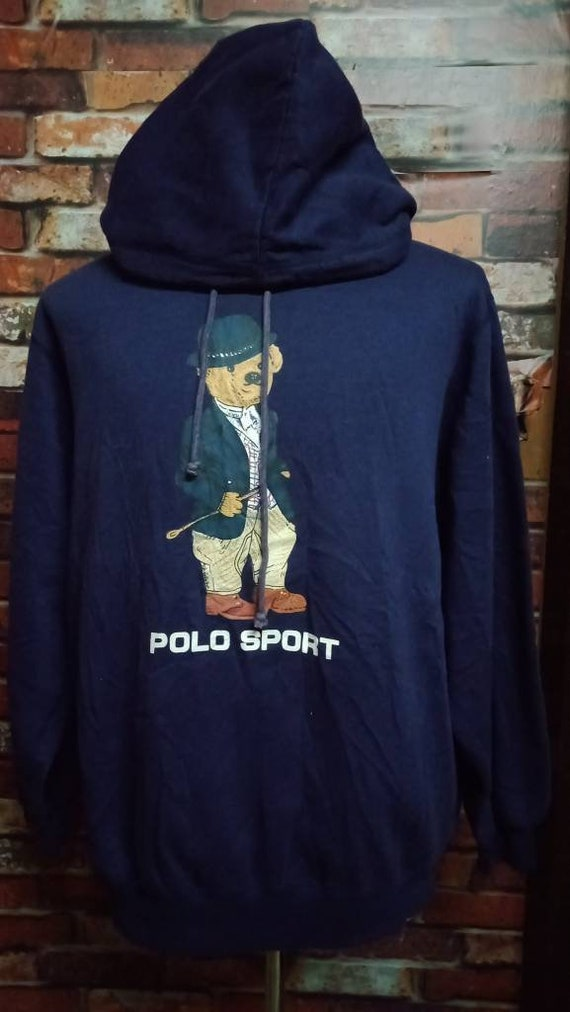 Vintage 90's Polo bear Polo Sport Hoodies