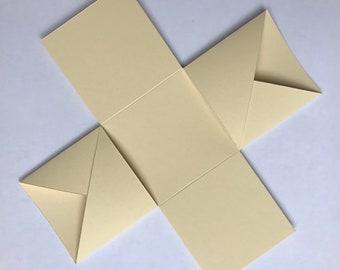 Blank explosion box, gift box for self-design, monochrome