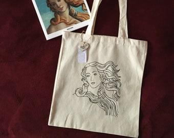 Sicily travel art Shopper Bag Bio Sicilian Pupi Natural Special with long handles,shopping bag,Sicily Italy Art Sicily Italy print