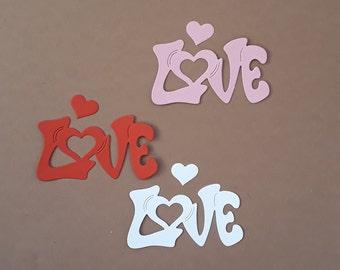 6 Love Worth Celebrating Die Cuts Embellishment Topper Decoration Valentines
