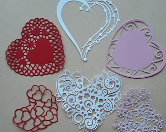 6 Stethoscopes Premade PAPER Die Cuts Scrapbook /& Card Making