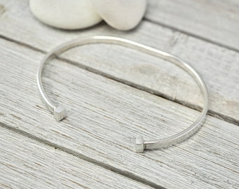 Heavy silver torque bangle | Sterling silver mens cuff | Jewellery for him | Handmade silver jewellery | Gift for him | Gift for dad