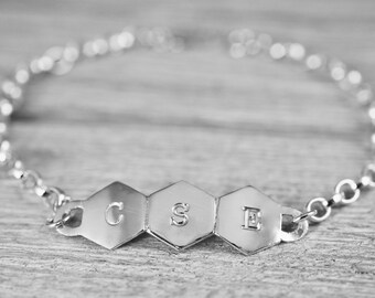 Initials bracelet | Sterling silver personalised initial bracelet | Customised name bracelet | Gift for mum | Gift for her | Gift for friend