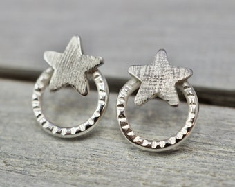 Star studs   Little Sterling silver star earrings   Sterling silver studs   Handmade silver jewellery   Gift for her   Best friend gift