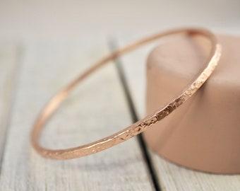 Copper bangle | Stackable hammered copper bangle | Handmade
