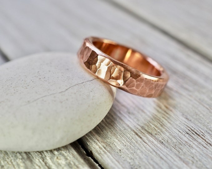 Featured listing image: Hammered copper ring | Heavy copper ring | Heavy hammered copper ring | Handmade copper jewellery | Gift for him | Gift for her