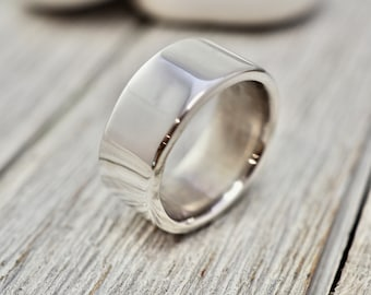Heavy sterling silver ring   Chunky silver thumb ring   Handmade solid sterling silver jewellery   Silver wedding ring   Silver gift for her