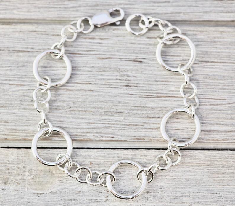 Timeless silver bracelet  Sterling silver link bracelet  image 0
