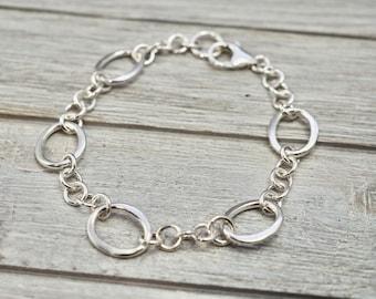 Oval link bracelet | Sterling silver bracelet with oval links | Timeless silver bracelet | Gift for her | Gift for wife | Mothers day gift