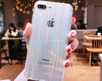 Holographic Transparent Laser Clear Rainbow Case For iPhone 12 11 Pro Max Se XR X XS 8 7 Soft TPU Edge Silicone