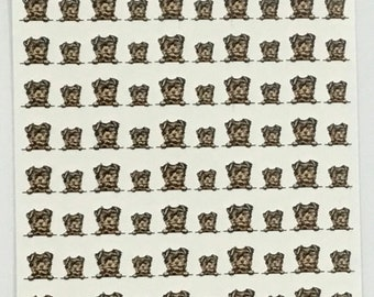 Yorkshire Terrier or Yorkie Nail Decals