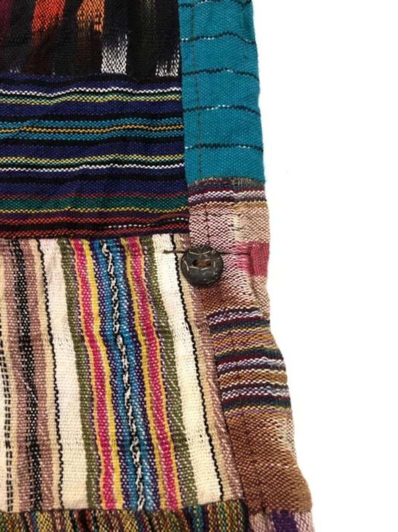Vintage Patchwork Casual Pants japanese brand