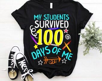 Ik overleefde 100 dagen school Mannen T shirt | Spreadshirt