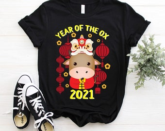 2021 Year of the Ox Chinese New Year clothes Parent and child matching T-shirt