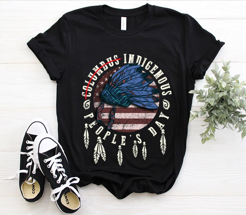 Indigenous People'S Day Not Columbus Day Native Usa American Flag October 12Th Celebration Gift T-Shirt Masswerks Store