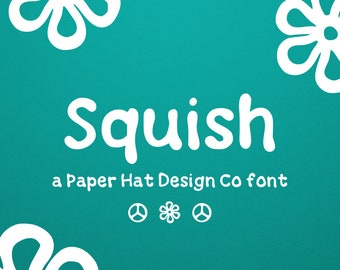 Hand Lettered Retro Groovy Squish Font   Paper Hat Design Company