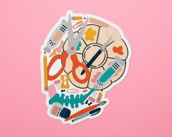 Til Death We Do Art Skull Waterproof Vinyl Sticker   Paper Hat Design Company