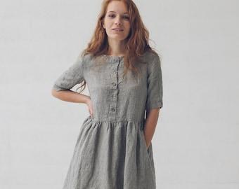 Linen Soft Wash Dress / Maternity Linen Dress