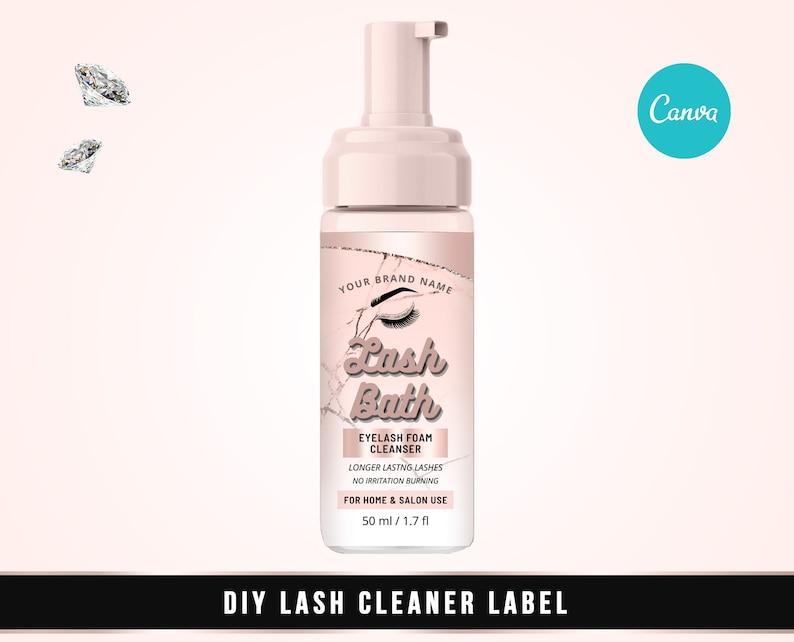 Digital Lash Product Label Lash Shampoo Label Lash Cleanser Sticker Edit Yourself DIY Eyelash Cleanser Foam Label