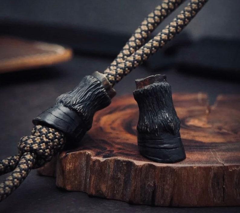 Hoof Lanyard Bead  1x Bead Per Order  Solid Bronze Build