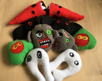 Cryptid Plush Catnip Toys/ Mothman/ Flatwoods Monster/ Mongolian Death Worm/ Zombie/ Fresno Nightcrawler/ Hopkinsville Goblin