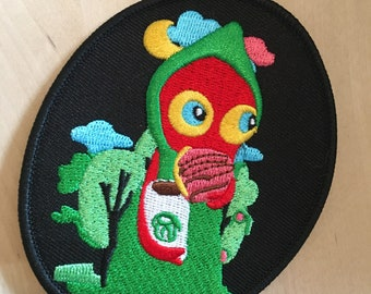 Cryptid Embroidered patch Flatwoods monster