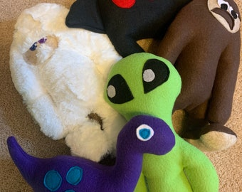 CLEARANCE 2019 cryptid plushies