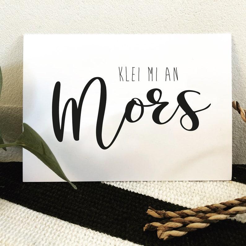 flat German saying Klei mi an Mors Postcard