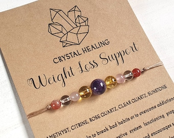 Gemstone Crystal Healing Weight Loss Motivation Support Earrings Gift Bag