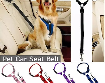 Dog Seat Belt Safety Dog Seat belt for carsvehicles Car Leash Dog Leash Pet Seat Belt Jeep Inspired Chevy Inspired Ford Inspired