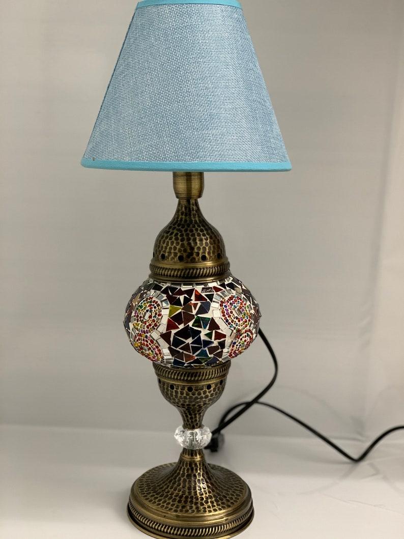 Lampada da tavolo marocchina turca con lampadina gratuita e DXUjzrSG