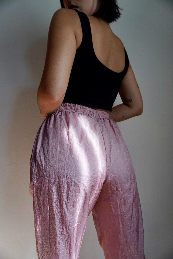 Vintage Dusty Rose Windbreaker Pants