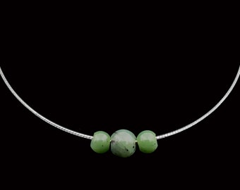 Necklace-Jade and Silver Necklace