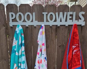 Pool Towel Hooks/Metal Towel Hanger-Large Version/10Hooks