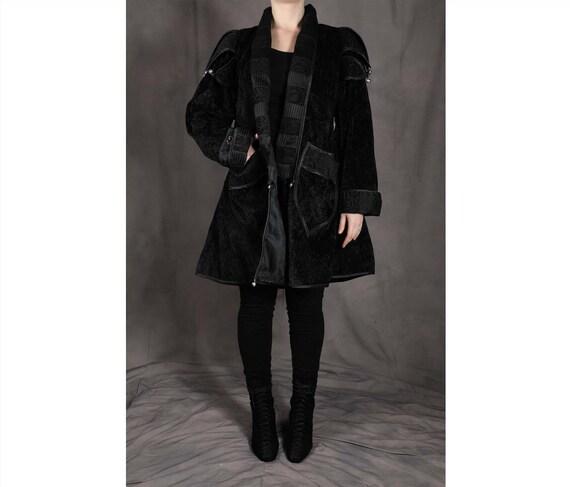 Black Brocade Medieval Jacket