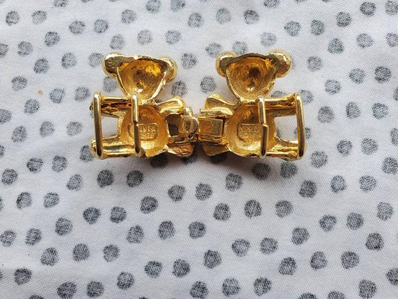 Vintage Mimi Di n Teddy Bear Belt Buckle 1979