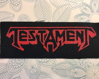 """TESTAMENT Thrash Metal Embroidered Iron On Sew On Jacket Patch 4.6/"""""""